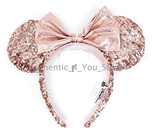 Disney Minnie Mouse Ears (Minnie Mouse Ears Rose Gold Walt Disney World Authentic Merchandise)