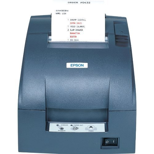 TM-U220B, Impact, two-color printing, 6 lps, Serial interface only, Power supply, Dark gray (Renewed) by Epson
