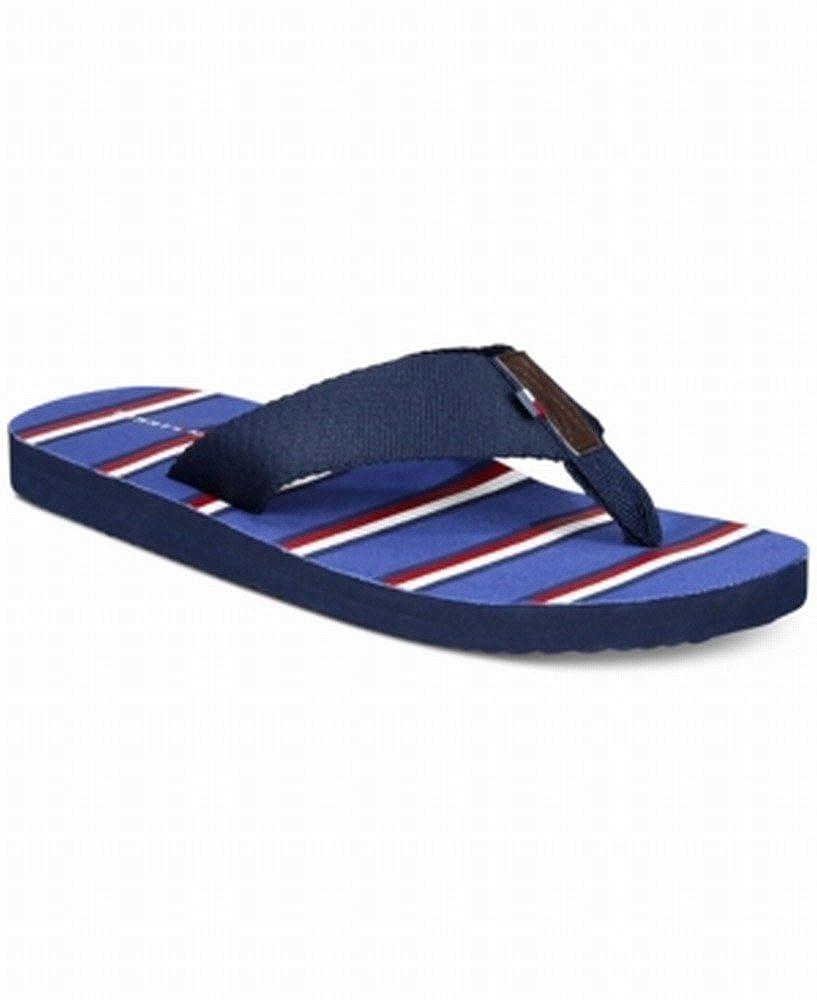 a71fc34a039996 Amazon.com  Tommy Hilfiger Red White Skylar Flip-Flops Sandals Blue XL   Clothing