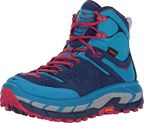 HOKA Women's Tor Ultra Hi Wp, Color: Blue Jewel/Medieval Blue, Size: 9.5 (1008335-BJMB-9.5)