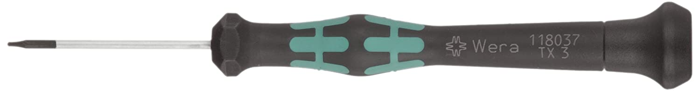60mm Blade Length Wera 05118046003 Kraftform Micro 2067 Torx BO Electronics Precision Screwdriver TX8 Head