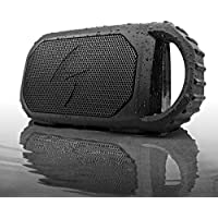 ECOXGEAR Eco Stone Portable Outdoor Bluetooth Speaker - Retail Packaging - Black (Certified Refurbished)