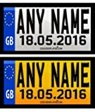 Coolrideplates® 90 X 50mm Personalised Rear Date of Birth Number Plate Self-Adhesive Stickers designed for Little Tikes Cozy Coupe *SIMPLY ADD A GIFT MESSAGE WITH THE NAME, COLOUR COMBO, AND DOB REQUIRED WHEN ORDERING*