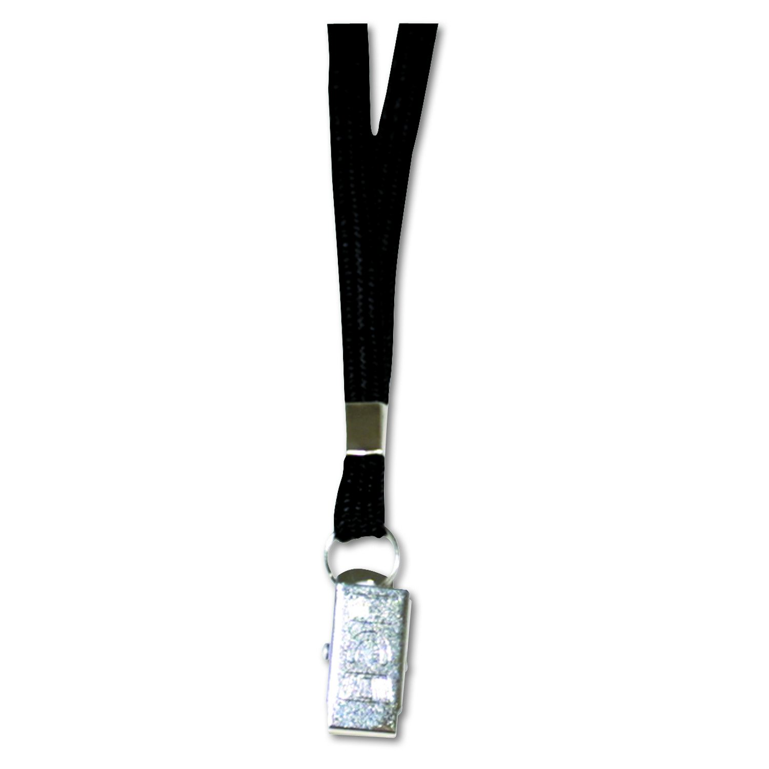 ADVANTUS 36-Inch Deluxe Neck Lanyard for ID Cards/Badges, Clip Style, Black, Box of 24 (75401)