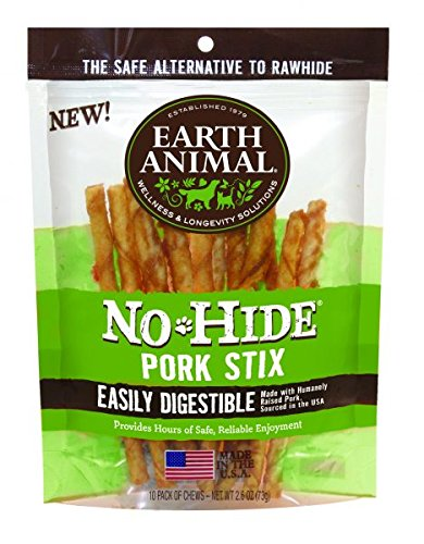 Earth Animal No Hide Pork Chews Dog Treats, 10 Pack by Earth Animal (Image #1)