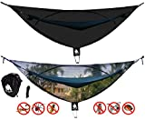 Bigger Bed Than a King Size CHILL GORILLA OH HELL NO! 11' BUG NET Stops Mosquitoes, No See Ums & Repels Insects. Fits ALL Camping Hammocks. Compact, Lightweight. Size 132