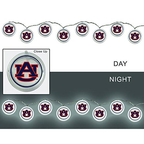 Team Sports America Auburn University Outdoor Safe Battery Powered String Light Set (Set Tigers Tailgate)