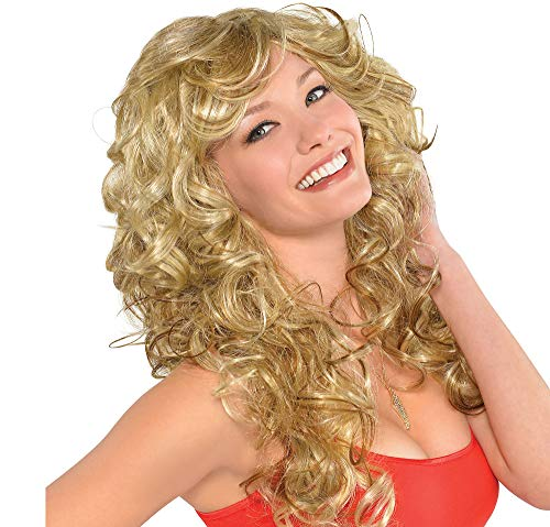 (AMSCAN '70s Bombshell Wig Halloween Costume Accessories, Blonde, One)