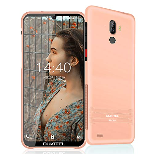 OUKITEL Y1000 Slim Rugged Smartphone, IP68 Waterproof Dropproof Android Cellphone with 2GB RAM+32GB ROM 8MP+2MP Dual Rear Camera 6.08'' Inch HD+ Display 3600mAh Battery Global Cell Mobile Phone (pink)