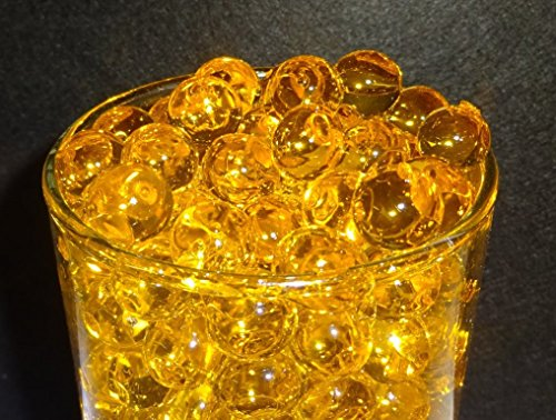 Sublime Gifts Water Gel Deco Beads (Butterscotch Gold) Create Custom Centerpiece Vase Fillers ()