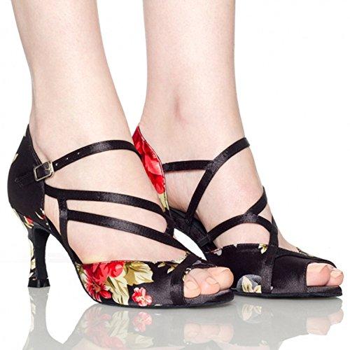 Latine Danse de Chaussures de de Chaussures WYMNAME Salon de de Sandale Noir Womens Danse Danse Chaussures Danse Chaussures Sociale wgv5IYq