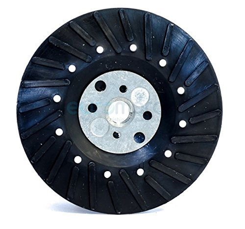 4.5 Inch Angle Grinder Ribbed Backing Pad for Resin Fiber Disc with 5//8 inch-11 Locking Nut