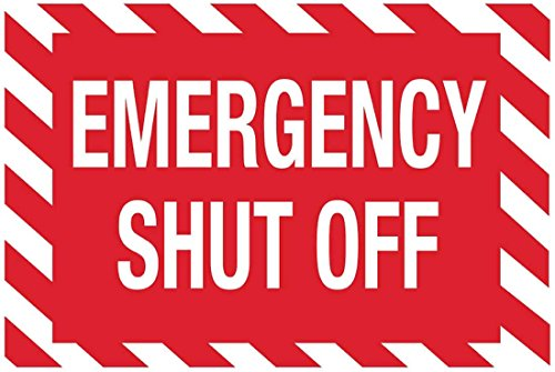 ZING 1897S Zing Safety Sign, Emergency Shut Off, 7