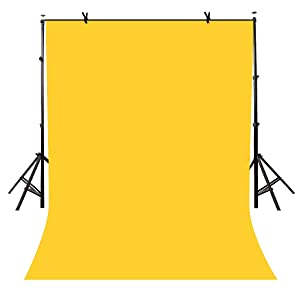 LYLYCTY 5x7ft Photography Studio Non-Woven Backdrop Yellow Backdrop Solid Color Backdrop Simple Background LY090