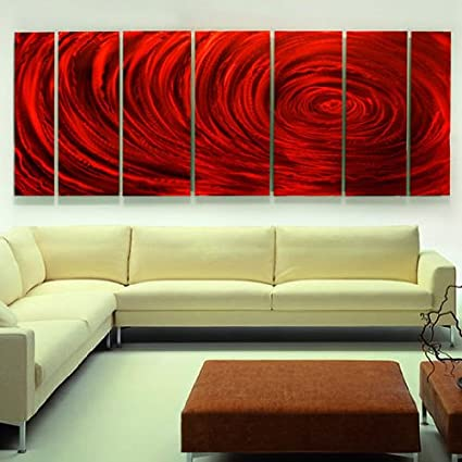 Amazon.com: Extra Large Abstract Metal Art - Large Metal Painting ...