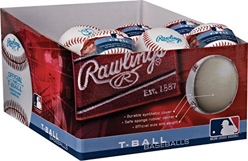 Rawlings Sponge Rubber Center Synthetic Cover Baseballs, Youth T-Ball, (Box of 24 Balls), TVBSW2-24 by Rawlings