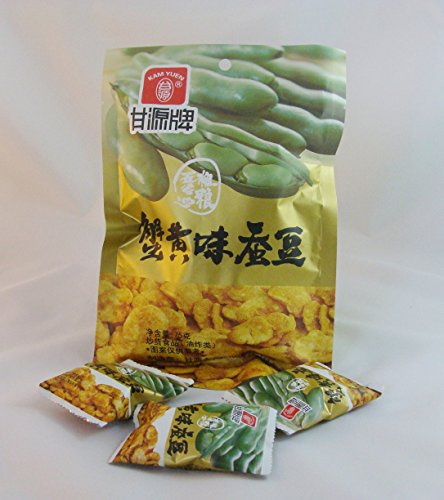 - Hot Selling KAM Yuen Chinese Snacks Crab Flavor Broad Beans 75 G.