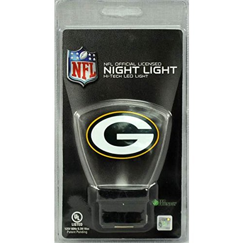 Green Bay Packers High Tech LED Nightlight No bulbs to change lasts 10 Years by Ass