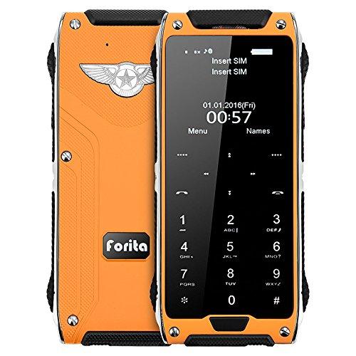 "Price comparison product image JaneDream R2 Ultrathin Mini MTK6261D 1.63"" Touch Screen Dual Sim Card Mobile Phone Cellphone Orange"