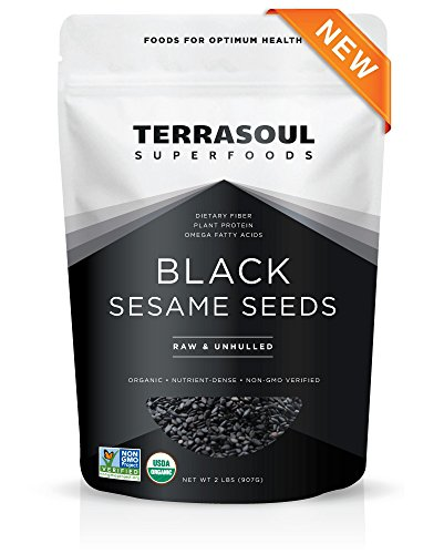 Terrasoul Superfoods Organic Black Sesame Seeds - 2 Pounds