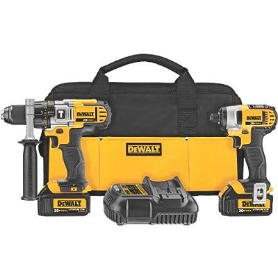 DEWALT DCK290L2 20-Volt MAX Li-Ion 3.0 Ah Hammer Drill and Impact Driver Combo Kit | Drilling set
