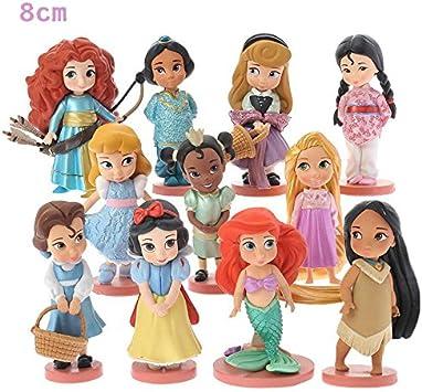 Princesas Disney - set 11- figuras-con bolsa de plastica- 8 cm ...