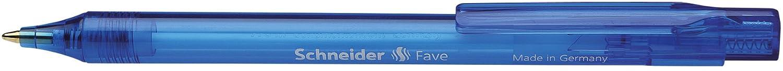 fusto in colori assortiti Schneider Fave Penna a sfera con meccanismo a pressione inchiostro blu pennino M