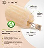 Premium Natural Eco-Friendly Egyptian Shower Loofah Sponge, Large Exfoliating Shower Loofa Body Scrubbers Buff Away Dead Skin for Smoother, More Radiant Appearance