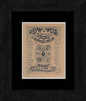 A Gathering of the Tribes - Handbil: Human Be-in Golden Gate Park San Francisco 1967 Framed and Mounted Print - 20x18cm