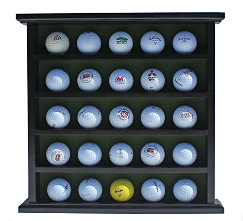 Golf Ball Display Case Cabinet No Door Holds 25 Balls by Display Case