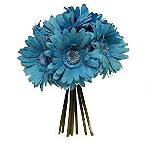 "Wedding Flowers 10"" Gerbera Gerber Daisy Bouquet Artificial Silk 88"