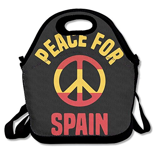 Faverlkujj Peace For Spain Pray For Spain Lunch Tote Insulated Reusable Picnic Lunch Bags Boxes For Men Women Adults Kids Toddler Nurses by Faverlkujj