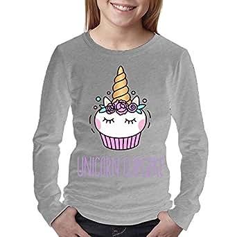 08&FD0 Rainbow Cupcakes Young Long Sleeve Tee Shirt