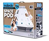 Makedo Cardboard Construction Space Pod – Ready To Build Construction Playset – STEM Learning Project - Stands Over 4 Ft Tall When Assembled – Includes 75 Reusable Makedo Tools
