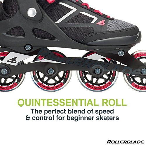 Rollerblade Macroblade 80 Women's Adult Fitness Inline Skate, Black and Pink, Performance Inline Skates by Rollerblade (Image #3)