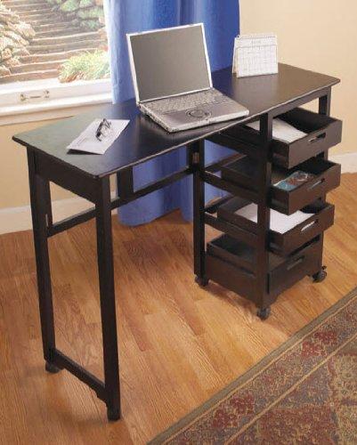 Space Saver Craft Table W Wheels   Folds Away In Black