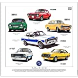Ford Escort RS Mk1/Mk2 Print --- Mexico, RS1600, RS2000 & RS1800. Ready to frame.