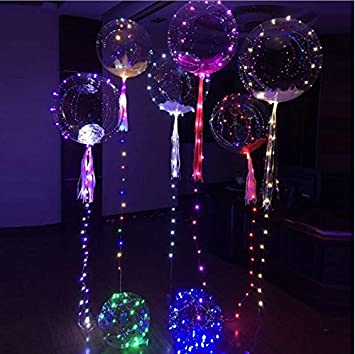 light up toys led string lights flasher lighting balloon wave ball 18inch helium balloons christmas halloween
