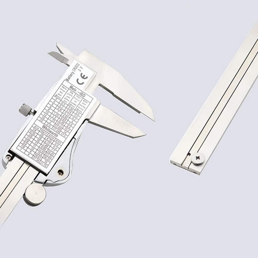 Bclaer72 Calibradores Vernier electr/ónicos Herramienta de medici/ón Resistente al Agua IP54 Calibrador de Acero Inoxidable a Prueba de Agua con funci/ón de Apagado autom/ático Pantalla LCD Extragrande