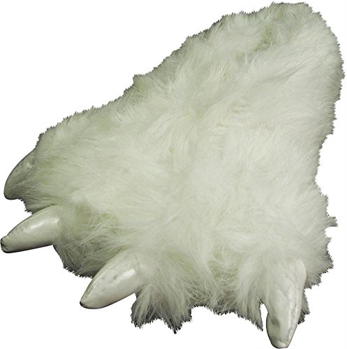 NORTY - Girls Big Foot Polar Bear Claw Slippers, White 40301-S/M ()