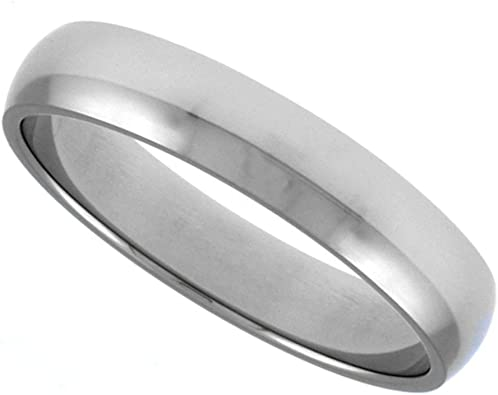 Sizes 7-14 Surgical Stainless Steel 6mm Wedding Band Ring Single Groove Comfort-Fit Matte Finish