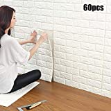 3D Brick Wall Stickers,Self-Adhesive Panel Decal PE Wallpaper,Peel and Stick Wall Panels for TV Walls,Living Room,Bedroom,Sofa Background Wall Decor (50 PCS)