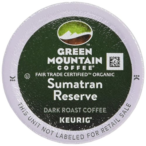 Green Mountain Coffee Tolerable Trade Organic Sumatran Reserve, K-Cup Portion Pack for Keurig Brewers 24-Count