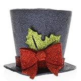 Direct Export Company Inc Large Black Glitter Top Hat