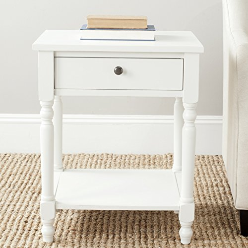 Safavieh Tami Off White Accent Table - Console Drawer Farmhouse