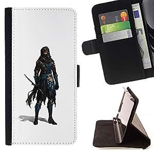 Momo Phone Case / Flip Funda de Cuero Case Cover - Espadachín Ladrón Blanca personaje del juego - Samsung Galaxy Note 5 5th N9200