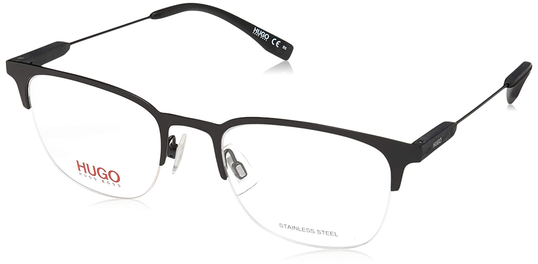 Hg 335 0003 Matte Black hug Eyeglasses Hugo