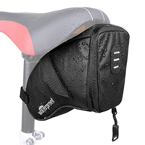 Find Bargain WOTOW Bike Saddle Bag, Waterproof Bicycle Wedge Pack Strap-on Storage Pouch with Water ...