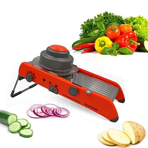 Ultimate Mandoline Slicer | 4 Adjustable Slicing Thicknesses | Dishwasher Safe | Free eBook - Ceramic Slicer Mandoline