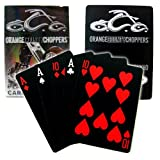 Orange County Choppers Black Deck Playing Cards, Single Deck